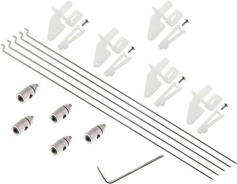 With screws x 12 RC Plane Control Horns Medium White  X 6