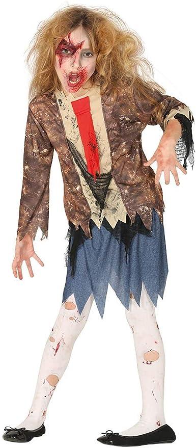 Guirca Disfraz de Estudiante Zombie para Niña: Amazon.es: Juguetes ...