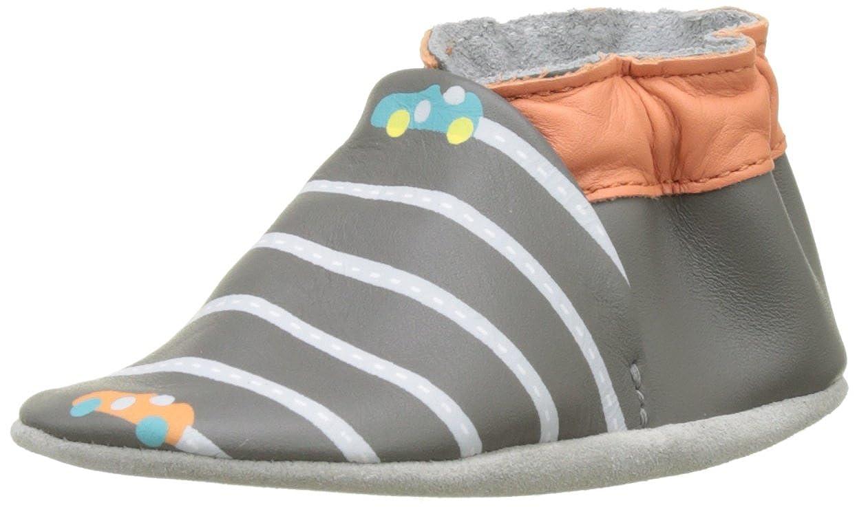 Robeez Baby Jungen Fast Car Lauflernschuhe fü r Babys Grau (Dunkelgrau) 23^24 566010-10-122