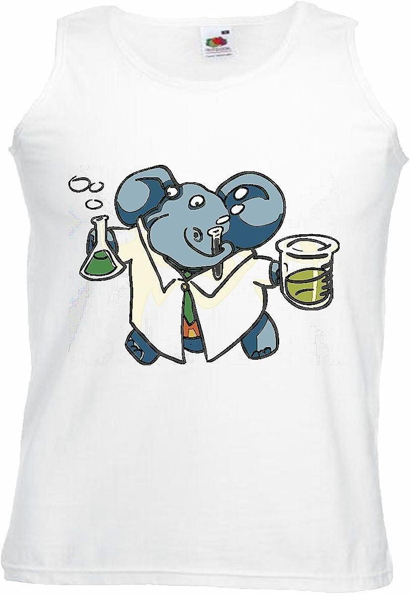 Camisa del músculo Tank Top Elefante como FÍSICA EN Laboratorio DE QUÍMICA Elefantes Tronco Africano Animal Elefante asiático Elefante Benjamin Manga en Blanco: Amazon.es: Ropa y accesorios