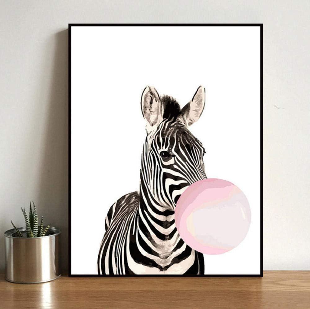 Diy Pintura Digital Por Númerossoplando Burbujas De Cebra Abstracto Cuadro Por Números Kits Pintura Número Imagen Láminas De Manualidades Con Pintura Por Números Decoración De Sala 40X50