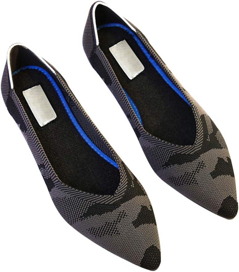 34 Apoorry Chaussures Plates /à Bout Pointu Respirantes et antid/érapantes pour Femme et Fille Violet