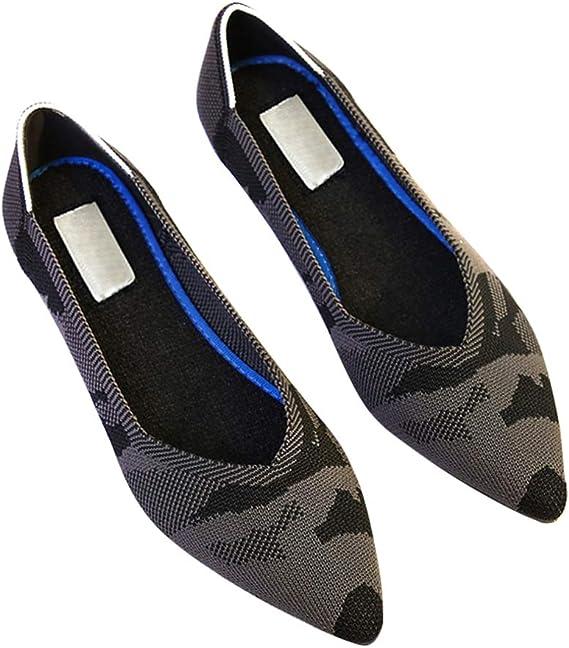 Violet Apoorry Chaussures Plates /à Bout Pointu Respirantes et antid/érapantes pour Femme et Fille 34