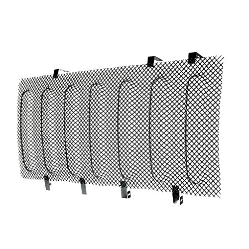 E-Autogrilles 07-17 Jeep JK Wrangler Black Bug Screen Stainless Steel Wire Mesh Grille Insert (43-0340B)