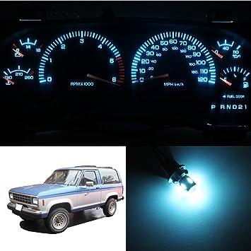 hercoo Kit completo tablero velocímetro Gauge LED luces para 1984 - 1988 0 Bronco II: Amazon.es: Coche y moto