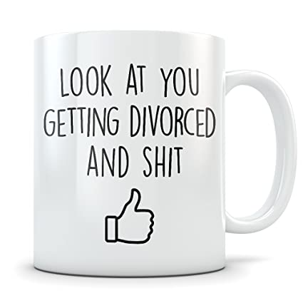 36f7dcb66efc Amazon.com  Divorce Gifts for Men and Women - Funny Divorced Coffee ...