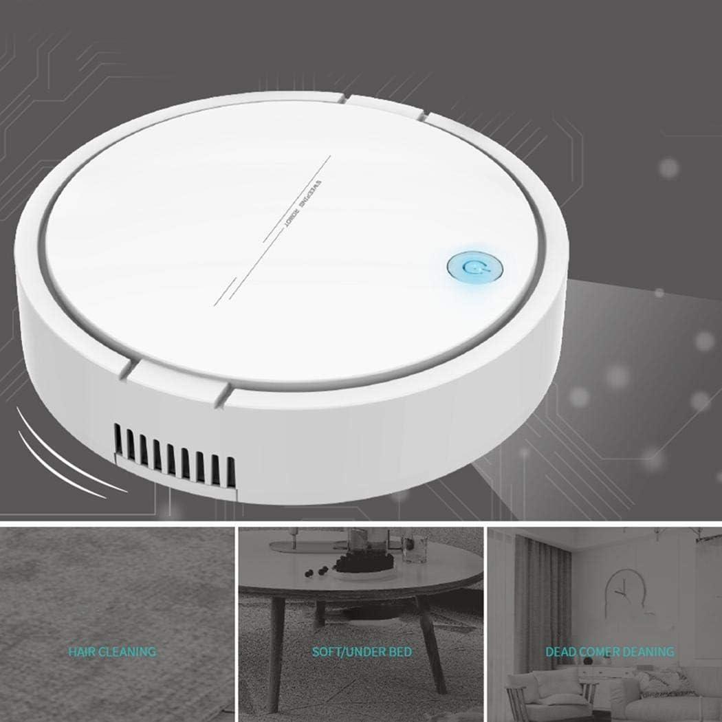 Sliwei Aspirateur Intelligent Rechargeable de Robot, Robot de Nettoyage Intelligent de Machine de Balayage Automatique blanc