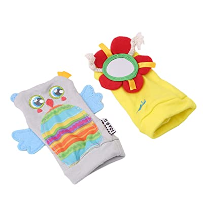 Myhouse Baby Socks Baby Animal Socks with Rattle Bell Socks Newborn Baby Toys (Flower Owl): Clothing