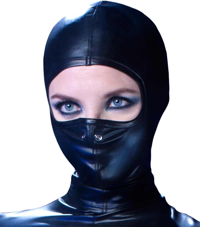 Patrice Catanzaro Ledermaske Kunstledermaske Lederhaube Leder Maske Kunstlederhaube Damen Maske