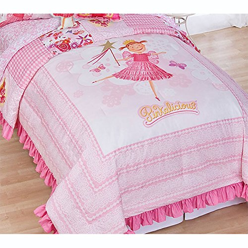 Pinkalicious Full Bed Comforter and Pillow Shams Set Pink Fairy Princess Bedding