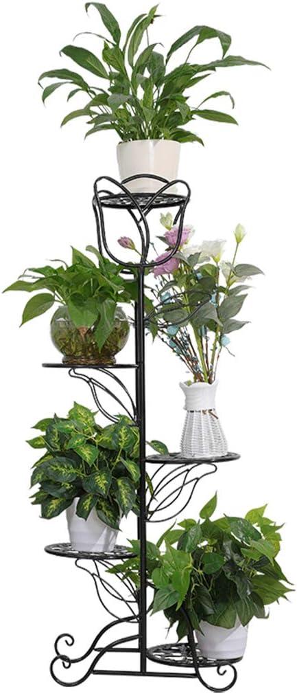 ZRHJ Soporte de Plantas en macetas de 5 Niveles, balcón, Sala de ...