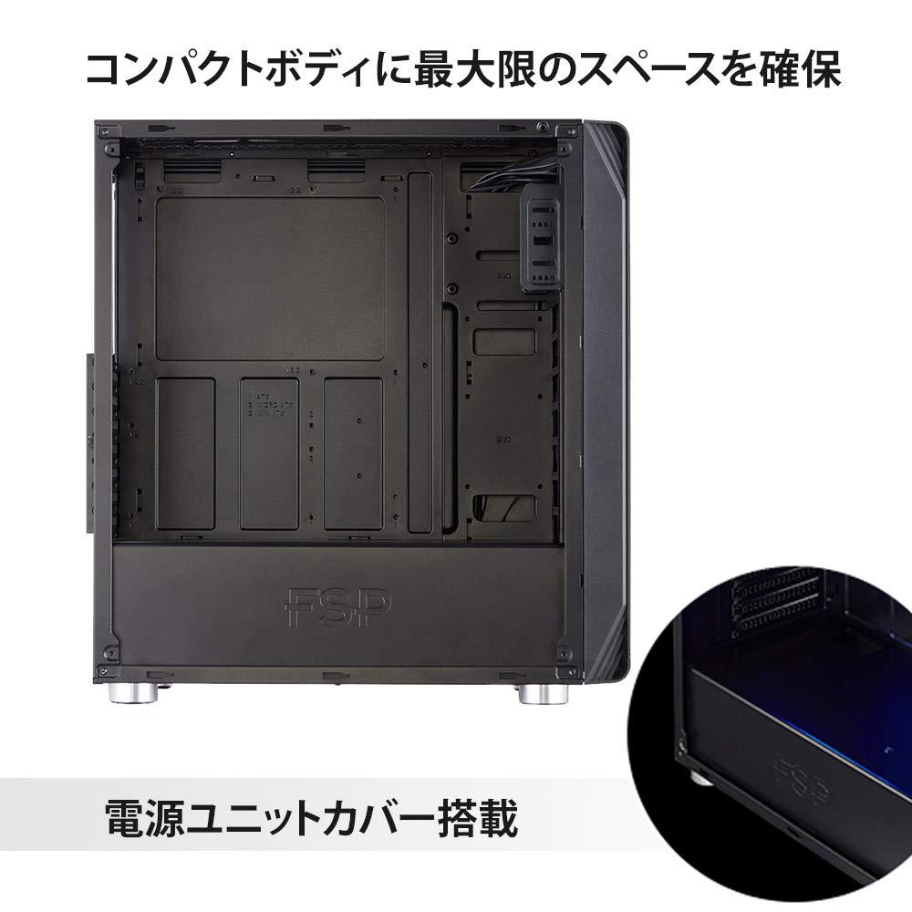 3ffd69efbb Amazon | オウルテック FSP製 PCケース ミドルタワーケース Blue LED FAN付 サイドアクリルパネル 1年保証 ブラック  CMT230 | オウルテック | PCケース 通販