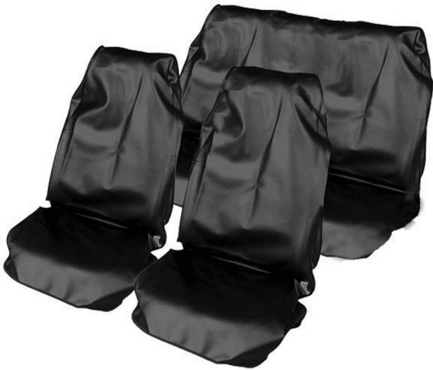 AB1 flexzon Black Heavy Duty Waterproof Full Set Car Seat Covers Protectors Universal Dog