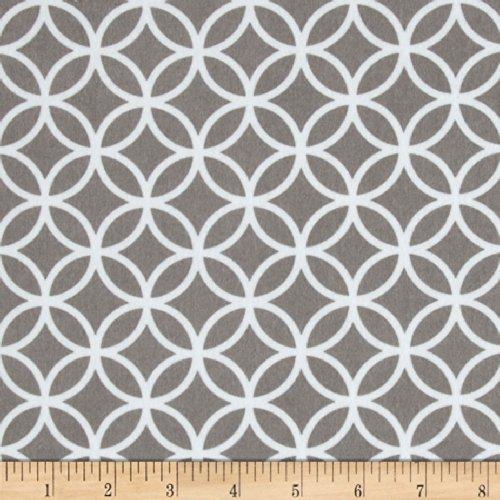 Robert Kaufman Cozy Cotton Flannel Circle Plaid Grey Fabric by The Yard
