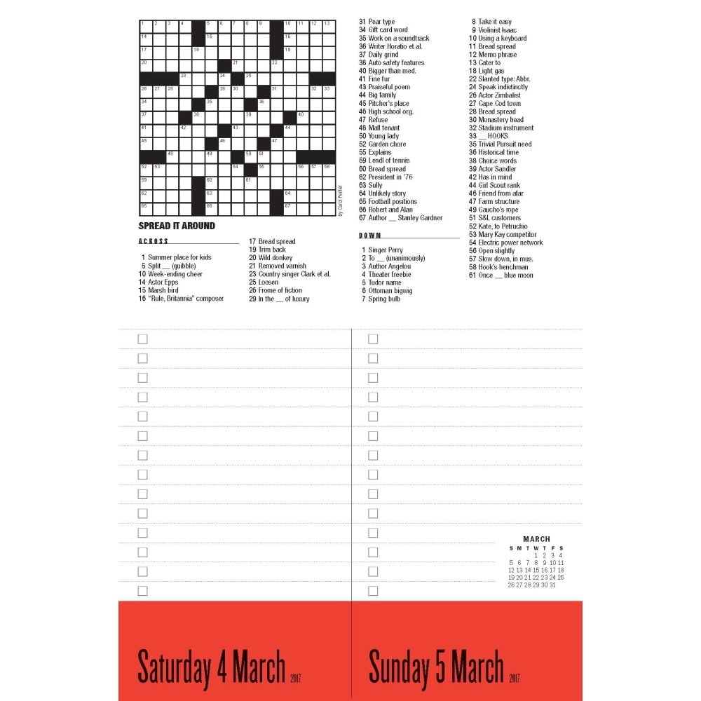 Amazon.com : 10-Minute Crosswords 2017 Page-A-Day Notepad Calendar : Office  Products