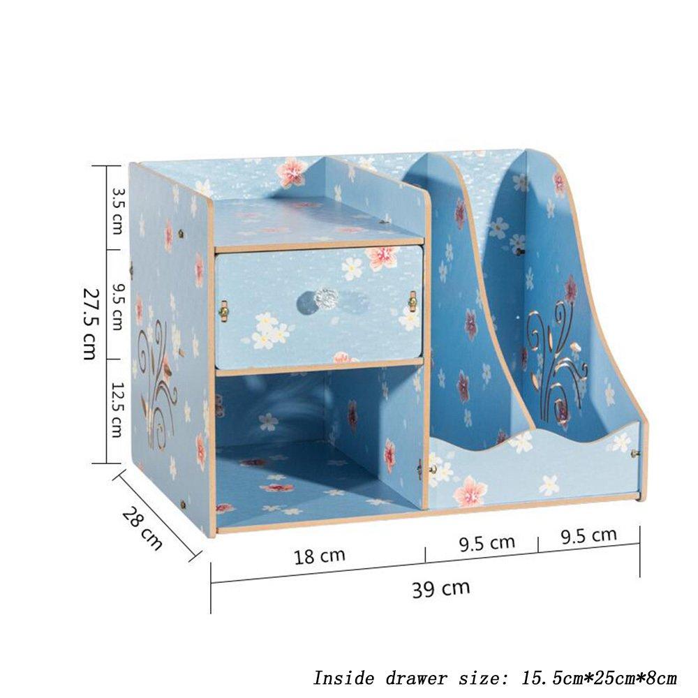 ZAIYI Bücherregal Holz Büro Desktop Aufbewahrungsbox Bücherregal Mit Mit Mit Racks Ordner Schreibwaren Bücher Racks,A B07CVSV1K3 | Produktqualität  47dbae