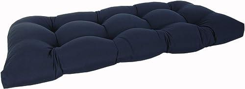 RULU 02330 Settee Outdoor/Indoor Sunbrella Cushion 45 x 19 x 5 inch Canvas Navy