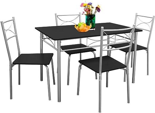 SSITG - Juego de mesa y sillas para comedor: Amazon.es: Hogar