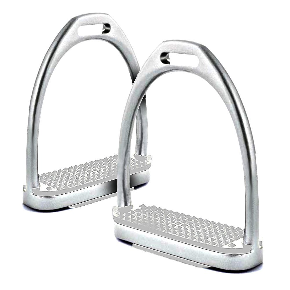 Estribos acero inoxidable con pedal Blanco: Amazon.es ...