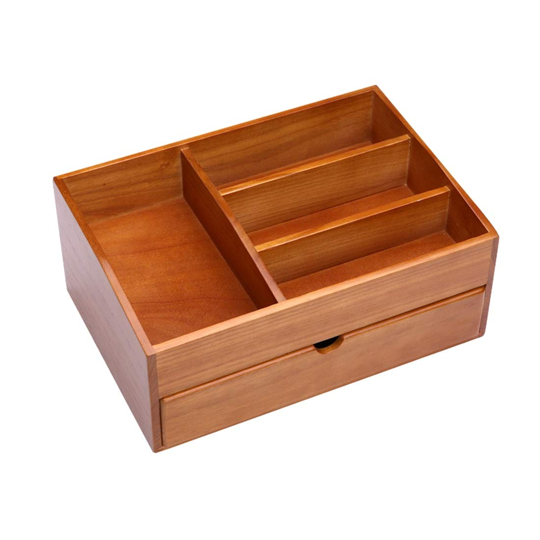 KERVINJESSIE Handmade Wooden Desktop Solid Wood Cosmetics Storage Box/Drawer/Miscellaneous Jewelry Retro Office Storage (Color : Brown)