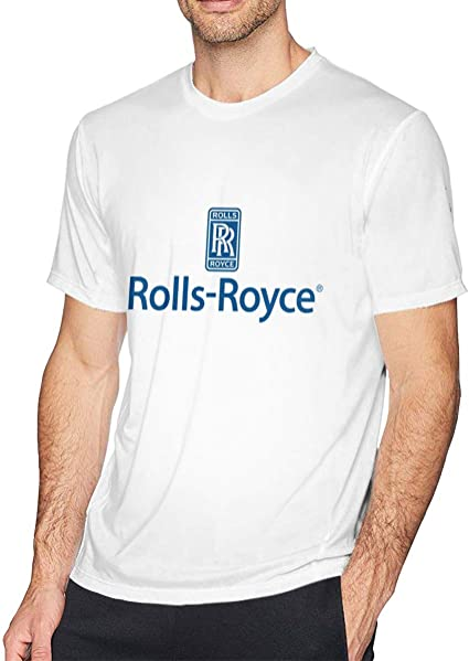 HANRUI Rollos Personalizados Royce Logo Camisetas para Hombre 100% algodón orgánico O-Neck Negro - Blanco - XX-Large: Amazon.es: Ropa y accesorios