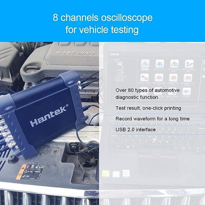 Hantek PC 1008C 8CH Automotive Program Diagnostic Generator Oscilloscope PROBE
