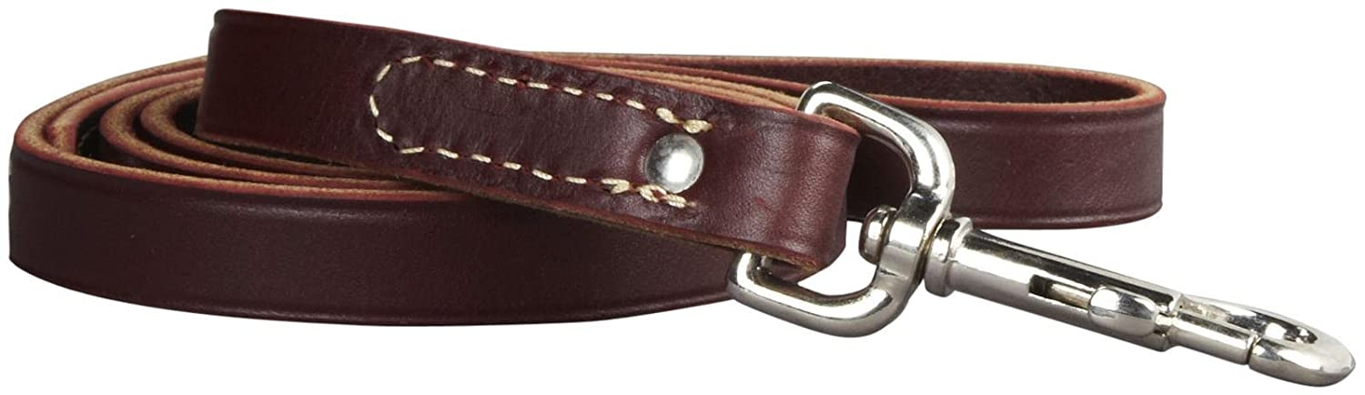 Leather Training Lead 3 4  X 48  Burgundy