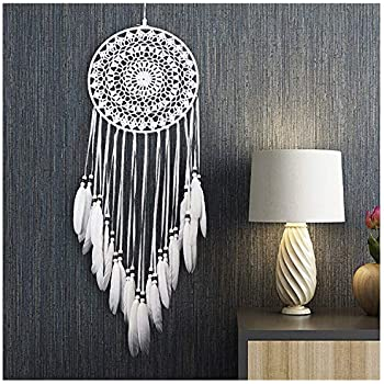 Home & Garden Dreamcatcher Handmade Dream Catcher With Rattan Bead Feathers Wall Car Hanging Decoration Ornament Skillful Manufacture