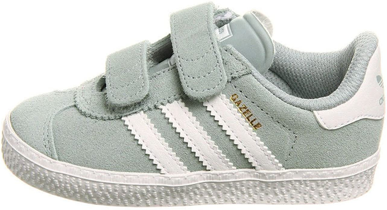 Oblicuo En todo el mundo Opuesto  Kids Baby Toddler Boys Adidas Gazelle 2 Light Grey/White Suede Velcro  Trainers (UK 3/US 4/EU 19): Amazon.co.uk: Shoes & Bags