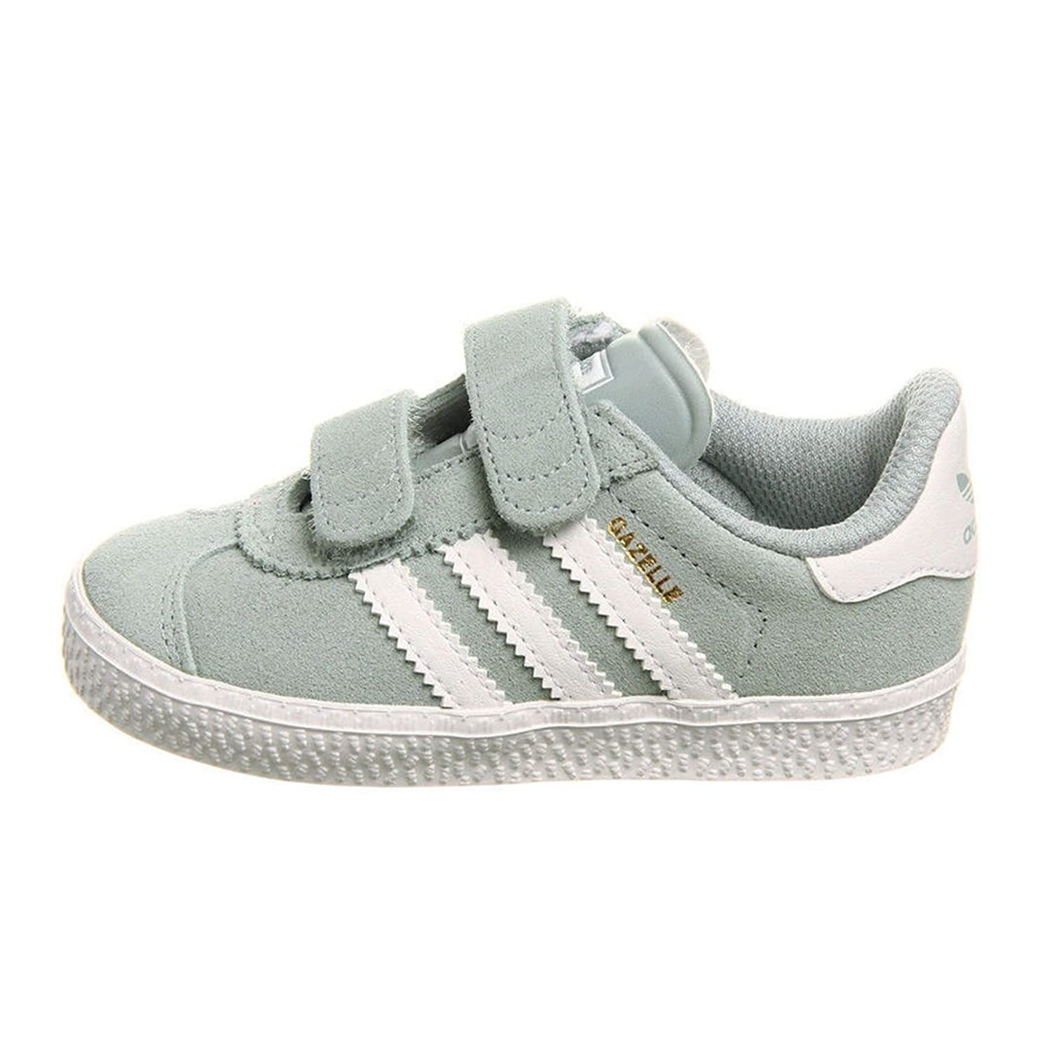 Kids Baby Toddler Boys Adidas Gazelle 2 Light Grey/White Suede Velcro  Trainers (UK 3/US 4/EU 19): Amazon.co.uk: Shoes \u0026 Bags