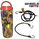 10x Bungee Cord Elastic Luggage Straps Rope Hooks Stretch Tie Car Bike Van Cover