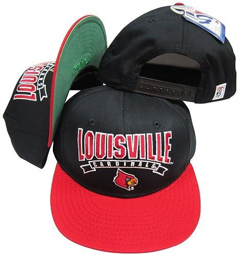 Amazon.com   Louisville Cardinals Black Red Snapback Adjustable ... 15ce46e4f84