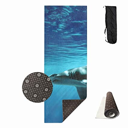 Amazon qeeww baby shark print thick fitness exercise mat