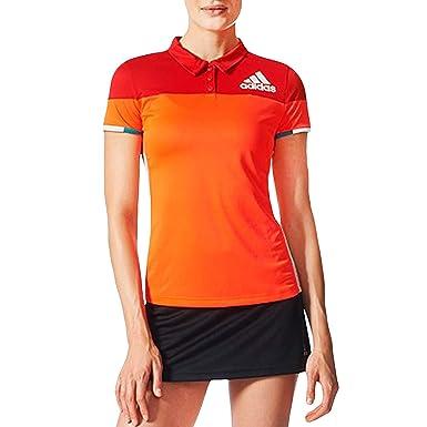 adidas Performance - Polo de bádminton para Mujer, Color Rojo ...