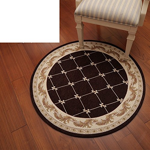 Big circle carpet Computer chairs Hanging basket carpet [study] [bedside] Machine-washable circular blanket Rubber back-lined entrance carpet-B diameter80cm(31inch)