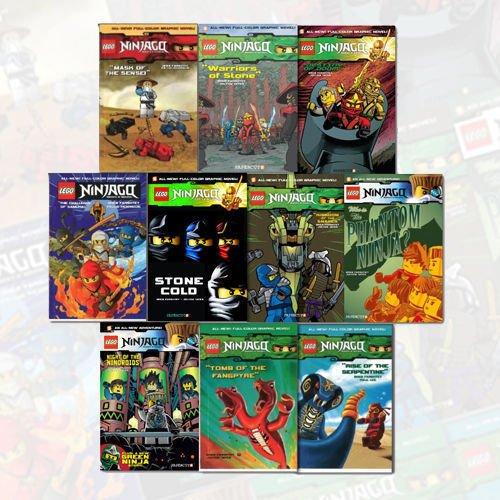 Lego Ninjago Series Vol (1-10) Greg Farshtey Collection 10 ...