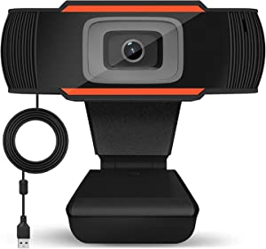 1080P HD Webcam, Auto Focus Face Camera with Dual Microphone for PC, Laptops, Desktop and Gaming, USB Computer Web Camera 90 Degrees Extended View.