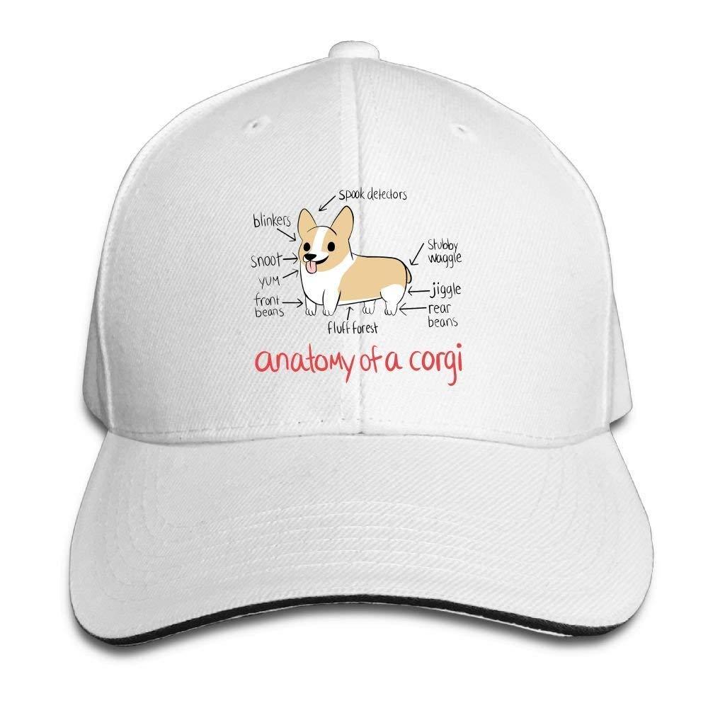 Anatomy Of A Corgi Cap Unisex Low Profile Cotton Hat Baseball Caps