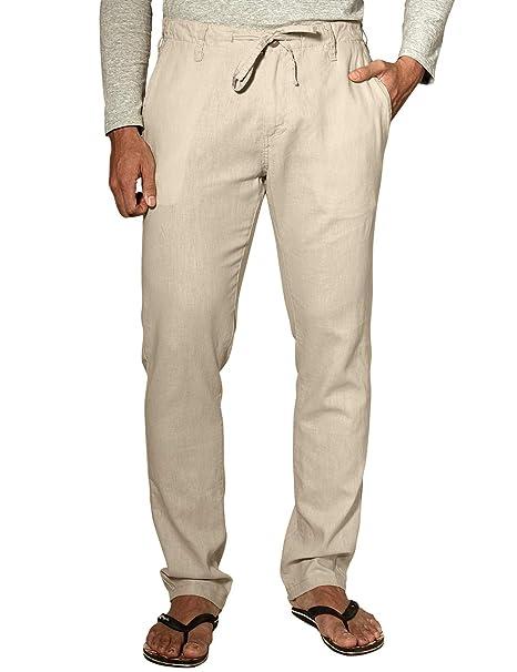 8789e09d75 Match Men's Slim Tapered Linen Casual Pants #8059