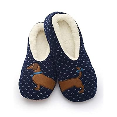Sherpa Womens Blue Wiener Dog Slippers/Dachsund Slippers | Shoes