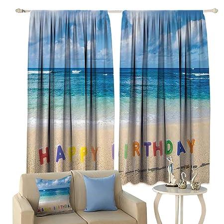 Cortina para ventana de cumpleaños, impermeable, para ...