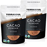 Terrasoul Superfoods Raw Organic Cacao Powder, 2 Lbs (2 Pack) - Raw | Keto | Vegan
