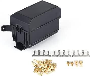 Bloque de caja de soporte de relé de fusible de 6 vías para Carro todoterreno SUV: Amazon.es: Coche y moto