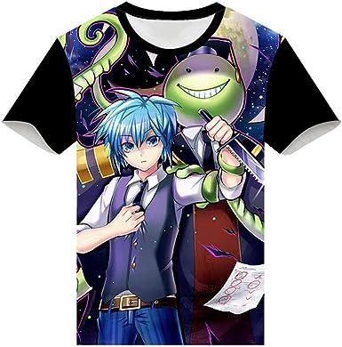 Cosstars Anime Assassination Classroom 3D Impreso T-Shirt Cosplay Disfraz Verano Camisetas Manga Corta tee Tops: Amazon.es: Ropa y accesorios