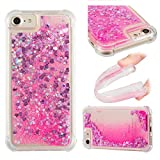 """Liquid Case for iPhone 6S 4.7"""",Floating Case for iPhone 6 4.7"""",Leecase Luxury Beauty Bling Shiny Sparkle Glitter Cover Pink Love Heart Quicksand Flowing Creative Design Crystal Transparent Clear Plastic Soft TPU Protective Shock Proof Shell Case Cover Bumper for iPhone 6S/6 4.7"""" + 1 x Free Black Stylus"""