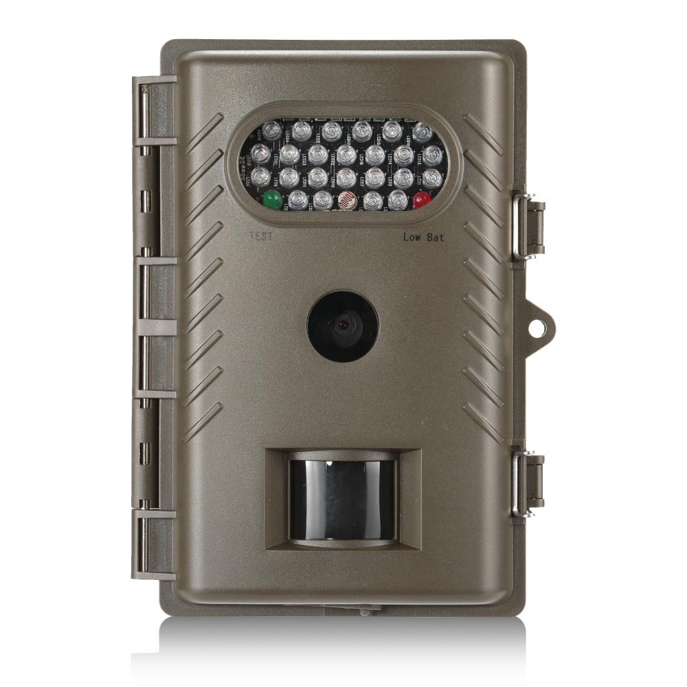 720P 800万画素 HD赤外線偵察トレイルカメラ、ナイトビジョンIP66防水屋外野生生物のカメラ (白 LED) B01J7TOPCS  白 LED