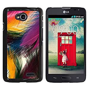 For LG Optimus L70 / LS620 / D325 / MS323 Case , Easter Festive Colorful Bird Nature - Diseño Patrón Teléfono Caso Cubierta Case Bumper Duro Protección Case Cover Funda
