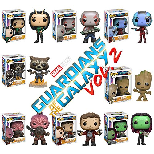 Pop! Movies: Guardians of the Galaxy 2 Mantis, Teserface, Star-Lord, Gamora, Groot, Nebula, Rocket and Drax! Set of 8