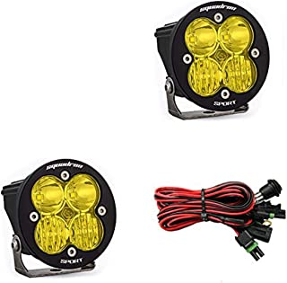 product image for Baja Designs, 587813, LED Light, Squadron-R Sport, Black, Driving/Combo, Amber, Pair
