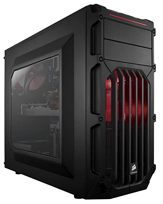 462 opinioni per Corsair CC-9011052-WW Case da Gaming, Mid Tower Spec-03, Nero/Rosso